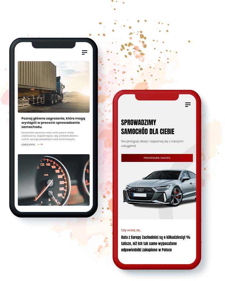 strona internetowa prestigecar mobile