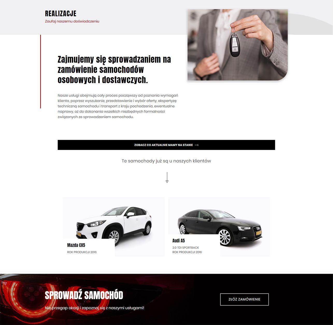 strona internetowa realizacje prestigecar